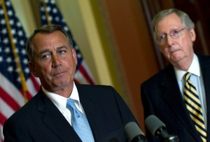 John Boehner speaker of the house US Congress Mitch McConnell US Senate Minority Leadere